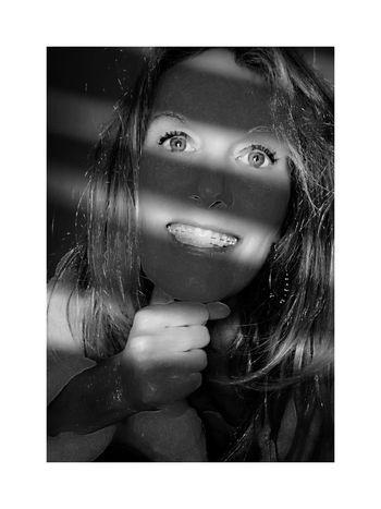 Portrait Of A Woman Portrait B&w Blackandwhite Blackandwhite Photography Black & White Pixelated Young Women
