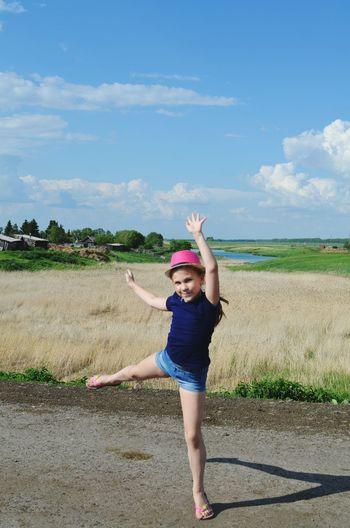 Child Girl Summer My Sister My Love Landscape Beautiful Enjoying Life