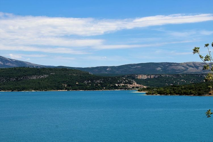 Provence Beauty In Nature Cloud - Sky Lac De Sainte-croix Lake Mountain Mountain Lake Mountain Range Nature No People Scenics - Nature Sky Tranquil Scene Tranquility Tree Water