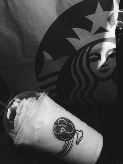 Starbucks ☕️ Starbucks Livelife Vanilla Bean IPhoneography Iphoneonly IPhone LeeTheShooter LVL3 From My Point Of View Blackandwhite