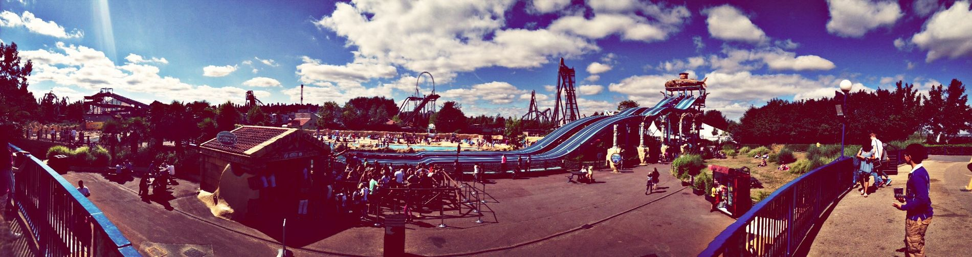 Thorpe park view..
