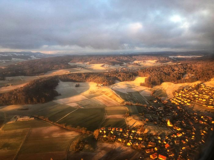 flight over Zurich Winter Eye4photography  EyeEm Selects EyeEmNewHere EyeEm Best Shots EyeEm Gallery Sony A6000 Switzerland Cloud - Sky Sky Landscape High Angle View Environment Nature Architecture Aerial View