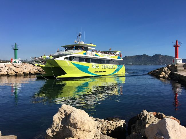 Boat Boad Ride Sea Mallorca Hafen Schiff Schifffahrt Cala Bona Habour