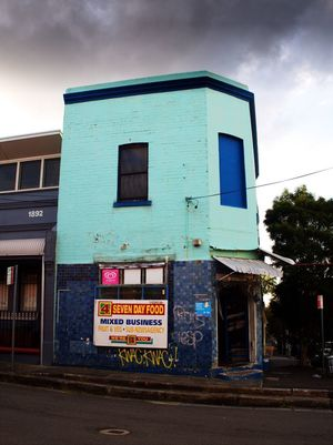 Colourful shop on the way from Newtown to Annandale in Sydney. Architecture Building Exterior Built Structure Sydney Australia