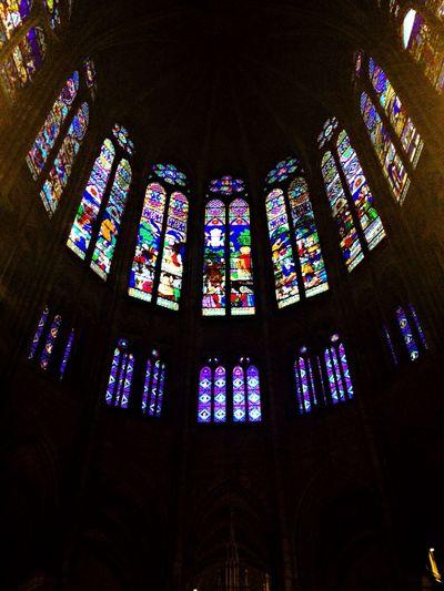 Basilique De Saint-Denis Saint-Denis Ligth And Shadow Vitreaux God