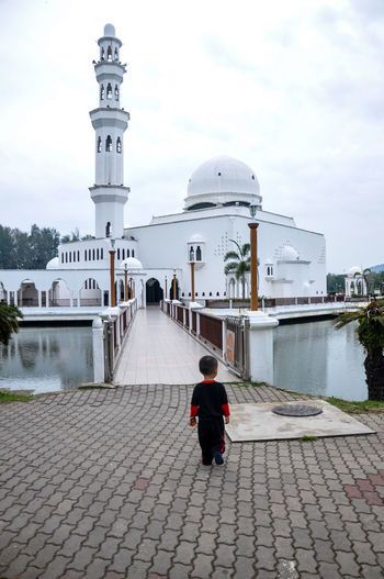 Architecture Building Exterior Built Structure Culture Dome Famous Place History International Landmark Islam Malaysia Mosque Mosques Place Of Worship Religion Spirituality Terengganu Tourism Tower