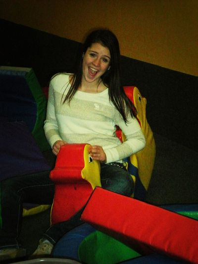 Playing in the little kid area