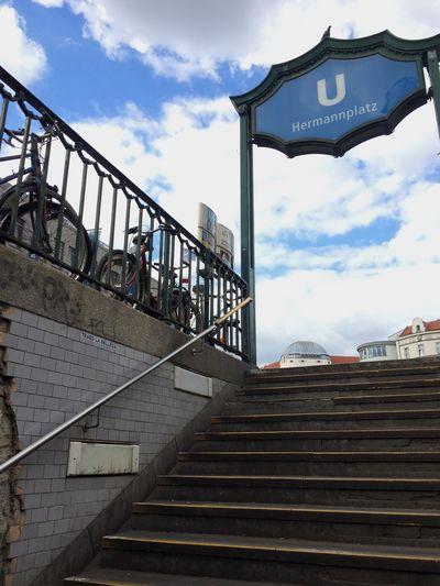 Staircase Cloud - Sky Ubahn Berlin Hermannplatz Berlin Urban Blue Your Ticket To Europe Discover Berlin