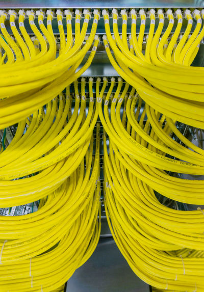 Network cable on a network HUB Patch Cable RJ45 Router Switch Cable Cable Connection Cat5 Cat6 Computer Computer Cable Concept Connection Cyberspace Data Security Ethernet Fiber Optic Cable Firewall Hub Lwl Network Network Cable Network Connection Patch Field Range Server