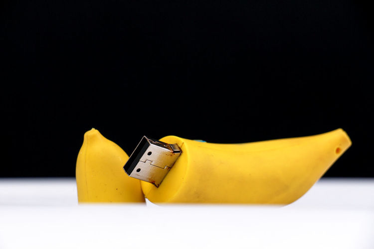 banana usb drive Funny Moments USB USB Flash Drive Banana Banana Peel Close-up Computer Data Storage Fruit No People Studio Shot Yellow