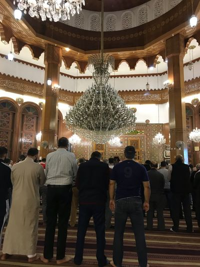 Prayer together Indoors  Men Standing Real People Place Of Heart المسلمين الله اكبر Holy Place Muslim❤️ Amman Masjid سبحان الله وبحمده ، سبحان الله العظيم 🌺 Jordan Mosque Building زخرفة اسلامية 🕋🕍🕌