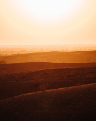 Landscape Scenics - Nature Horizon Environment Tranquil Scene Tranquility Sky Land Horizon Over Land Desert No People Sand Nature Non-urban Scene Beauty In Nature Copy Space Arid Climate Outdoors Remote Climate Prairie