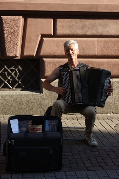 Accordion Player Entertainer Lifestyles Music Musician Real People Street Entertainer Street Entertainment Street Musician Street Musicians