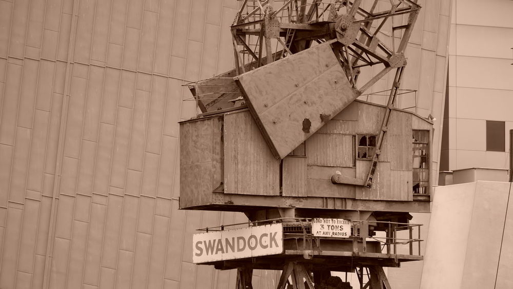 Abandoned Bygone Times Crane Old-fashioned Sepia Sepia_collection