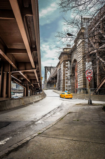 Architecture Brooklyn Bridge / New York Building Exterior Built Structure City City Life City Street Day FDR Drive New York New York City No People Outdoors Public Transportation Road Sky Transportation Yellow Taxi EyeEmNewHere Long Goodbye