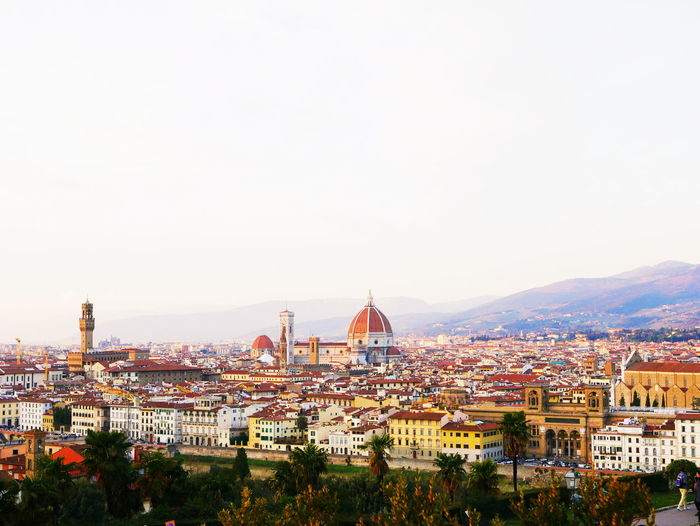 EyeEmNewHere Piazza Michelangelo Bright Sunlight Florence Firenze Italy Italia Piazzale Michelangelo VSCO VSCO Colourful Old Buildings Europe Photography Historic Landscape Cityscape City Cityscape Urban Skyline Clear Sky High Angle View Sky Architecture Building Exterior Built Structure
