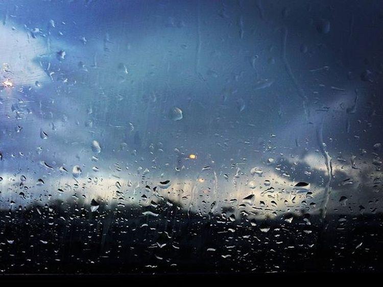 My Photo Weather Clouds Cloud Its  Cloudy Rain Raining Drop Car Winter