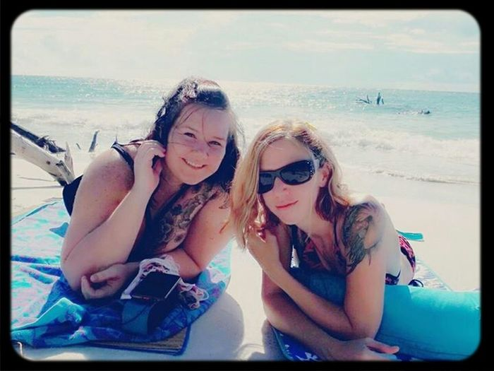 Chillin with my bestie on the beach. Best Friends Beer Can Island Whitney Beach Ria & Bia