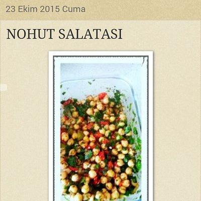 Tarif için www.kelebekgunlugum.blogspot.com Foodbloger Food Bloggerdayanismasi Delicious Yummy Blog Salata Nohut Nohutsalatası