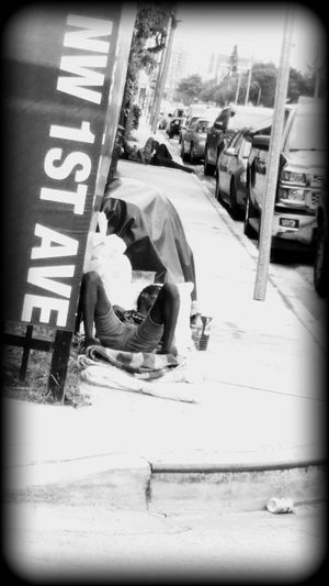 Sad Homeless