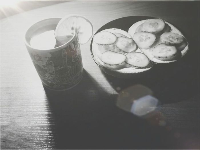 Dinner Time Sandwiches And Tea Black & White Eat Eat And Eat ? ??
