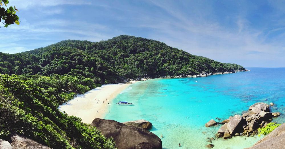 Similian Island Wonder Of Nature Withe Beach Beach Similan Island, Thailand Similian Island Water Sea Sky Beach Scenics - Nature Beauty In Nature Land Cloud - Sky Idyllic Nature Blue Day Outdoors Horizon Over Water