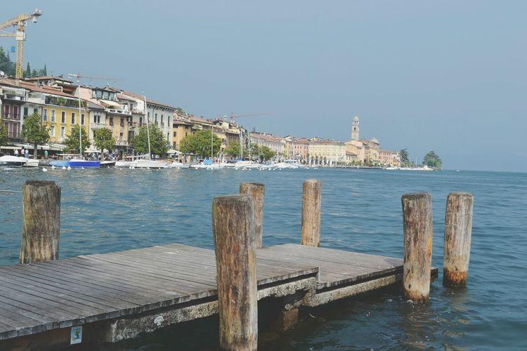 Wooden pier in sea