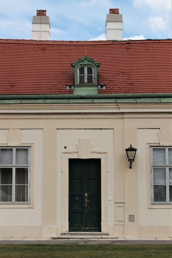 Building House Roof Architecture Photography City Vienna Austria Red Roof Politics And Government Façade Front View Close-up Architecture Building Exterior Sky Closed Door Entryway Residential Structure Door Entrance Exterior Roof Tile Door Handle Entry Residential Building
