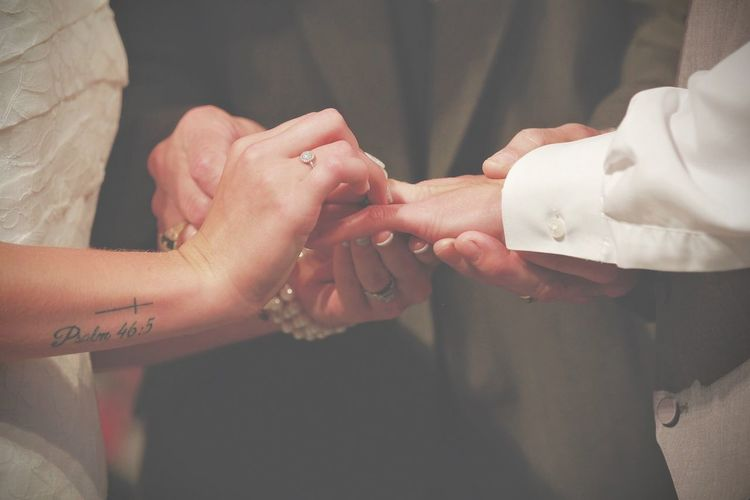 And so it begins.. Human Hand Real People Holding Hands Connection Love Bridegroom Wedding Ceremony Agreement Life Events Indoors  Ceremony
