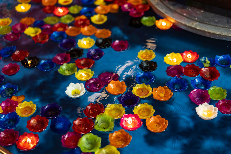 เทียนลอยน้ำ อธิษฐาน Candle Pray Art Candlelight Close-up Water