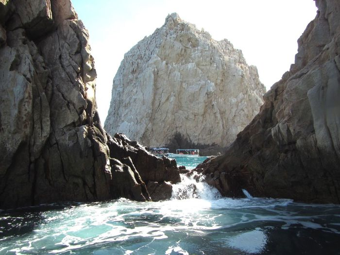Ocean waterfall in Cabo Waterfall Water Ocean Cabo