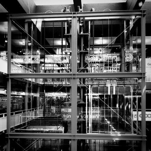 Fahrstuhl - b&w Blackandwhite Architectural Detail Elevator Architecture