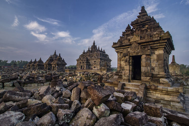 Candi plaosan or plaosan temple, located in klaten regency, central java, indonesia