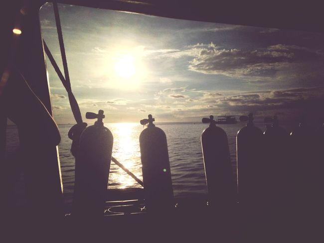 Evening Sun Diving Scuba Diving Melancholic Landscapes