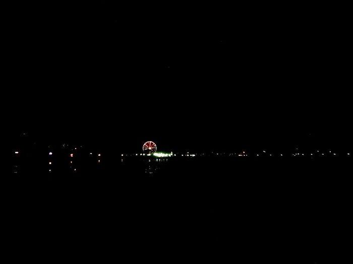 No People Night Water Outdoors Nature Illuminated Sky Black Background Lights In The Dark Wheel Ferris Wheel Kaliningrad