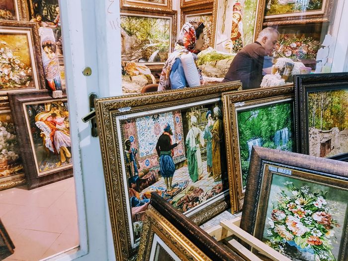 Carpet store in Tehran. Bazaar Shopping Carpet Carpet Shop Frames Headscarf Painting Shop Store