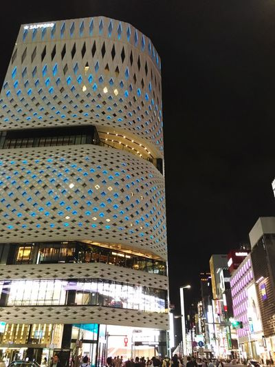Building Exterior Architecture Built Structure Modern City Night Illuminated Skyscraper Outdoors Low Angle View No People