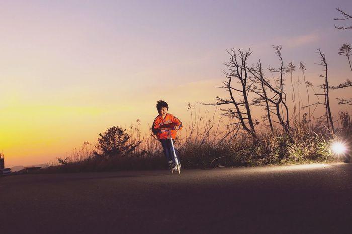 Portrait Sunset ストロボ