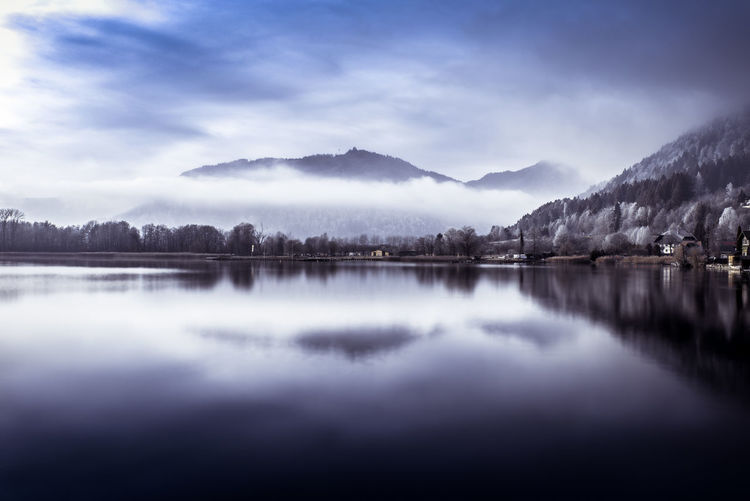 Beautiful Cloud Cloud - Sky Day Fujifilm Lake Landscape Mountain Mountain Range Nature No People Outdoors Photo Photography Photooftheday Reflection Sky Sky And Clouds X100S