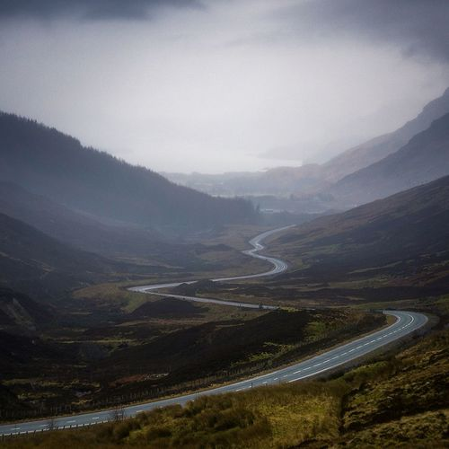 What a road Beauty In Nature Tranquility Landscape Winding Road Mountain Range Cloud - Sky Travel Destinations Scotland Landscape_photography Dramatic Sky