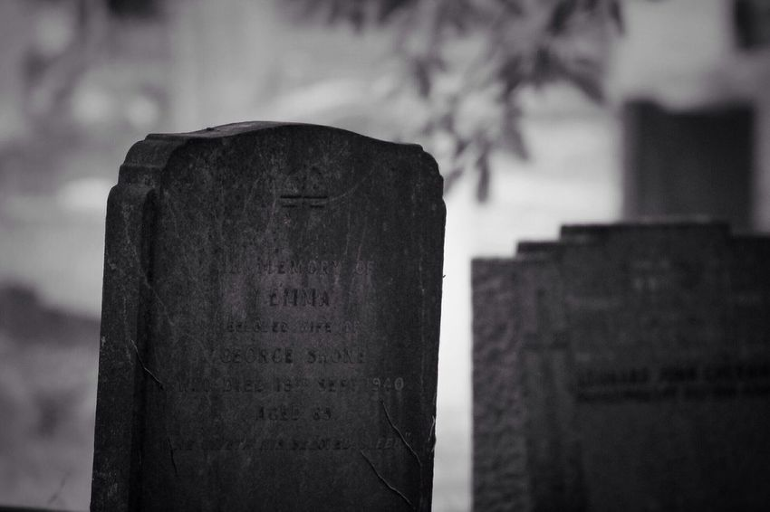 Focus On Foreground No People Outdoors Day Close-up No Property Canon Graveyard Black & White Cemetery Memorial Tombstone Gravestone Creative Photography Graveyard Beauty Canonphotography South West London