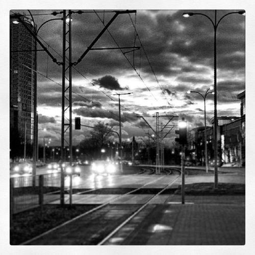 Sky Warsaw Poland Evening