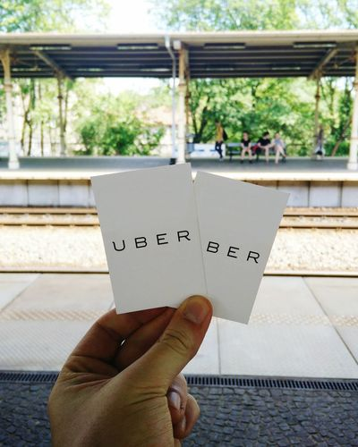 Mój kraj, taki nowoczesny. Uber Public Transportation Running Late Train Station