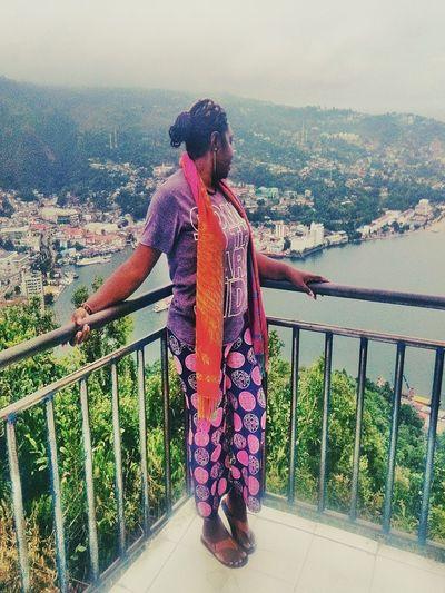 Jayapura city my Travelling i am happy A New Beginning Water Sea Full Length Standing Women Railing Sky Horizon Over Water