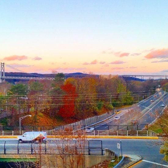 A bit of Poughkeepsie... Poughkeepsie Newyork ROUTE9 Walkway MidHudson Bridge Fall Clouds Latergram