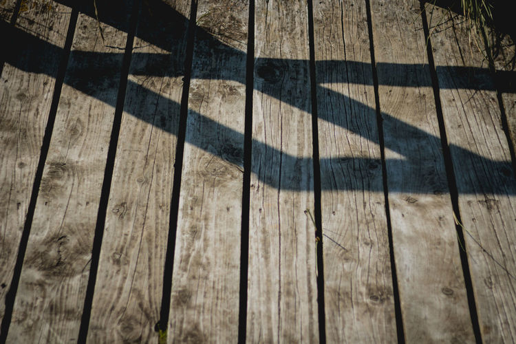 Abstract Floor High Angle View Light Nature No People Outdoors Shadow Sunlight Sunset Wood Wood-material