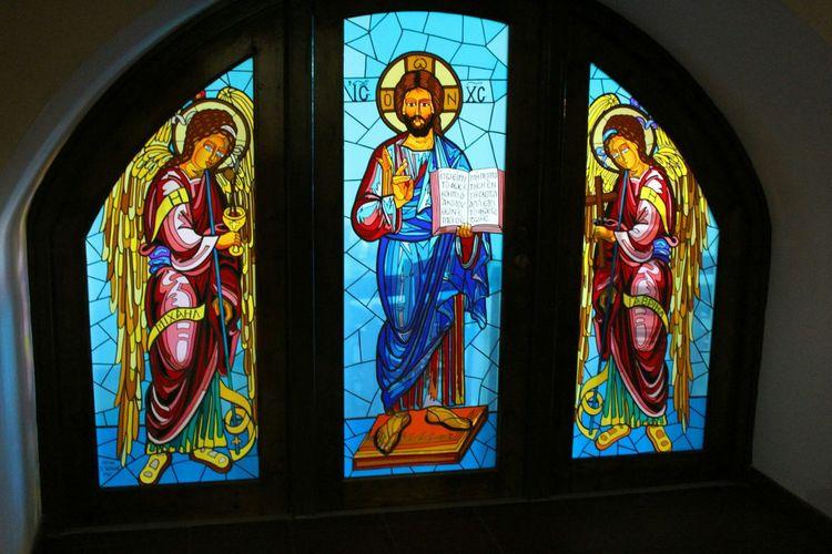 Cyprus Monastery Creative Light And Shadow Glass Window Traveling Kykkos