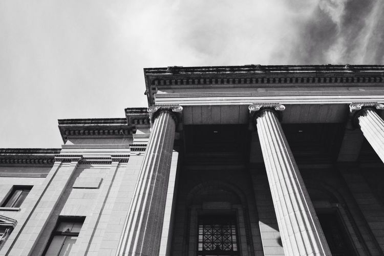 Building Exterior Architecture Built Structure Low Angle View No People Architectural Column History Sky Façade Day Pediment