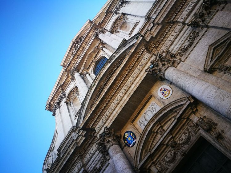 Roma Chiesa Roma Spettacular View Winter Colori Marmo Low Angle View Building Exterior Window Day Clock