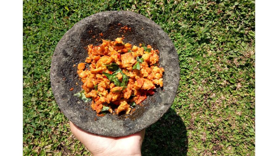 cooking for lunch.. Food Sambaltempekemangi Indonesianfood